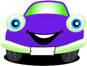 Happy Car Purple