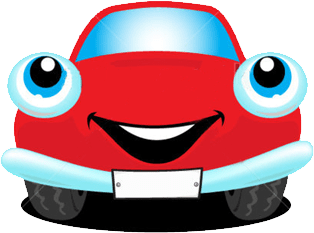 Happy Car Red